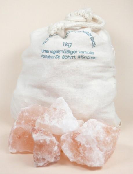 Himalaya Salz Brocken in Baumwollbeutel