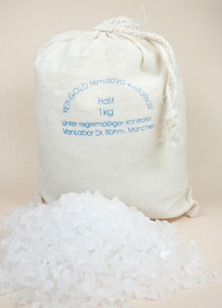 Himalaya Salz Halit Granulat in Baumwolbeutel